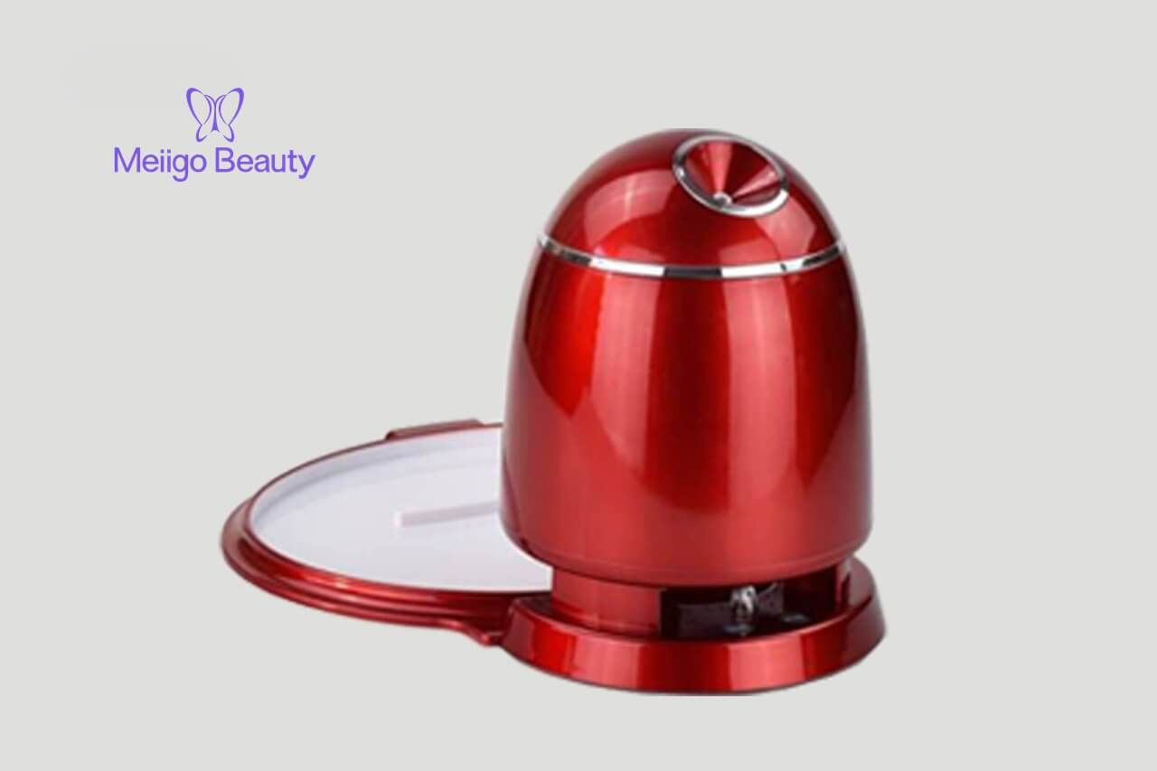 Meiigo beauty face mask machine in red FM002 1 min - Face mask maker machine and facial steamer in red FM002