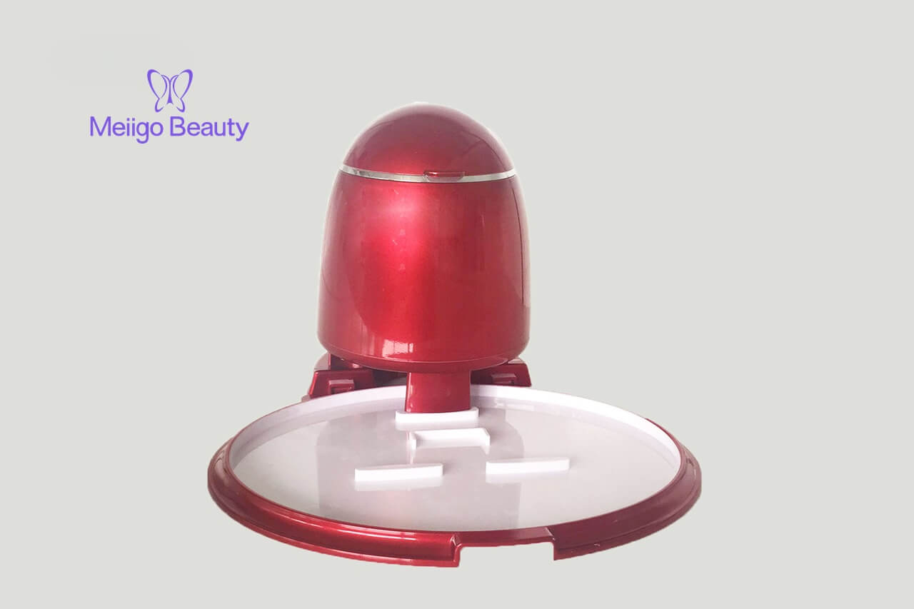 Meiigo beauty face mask machine in red FM002 2 - Face mask maker machine and facial steamer in red FM002