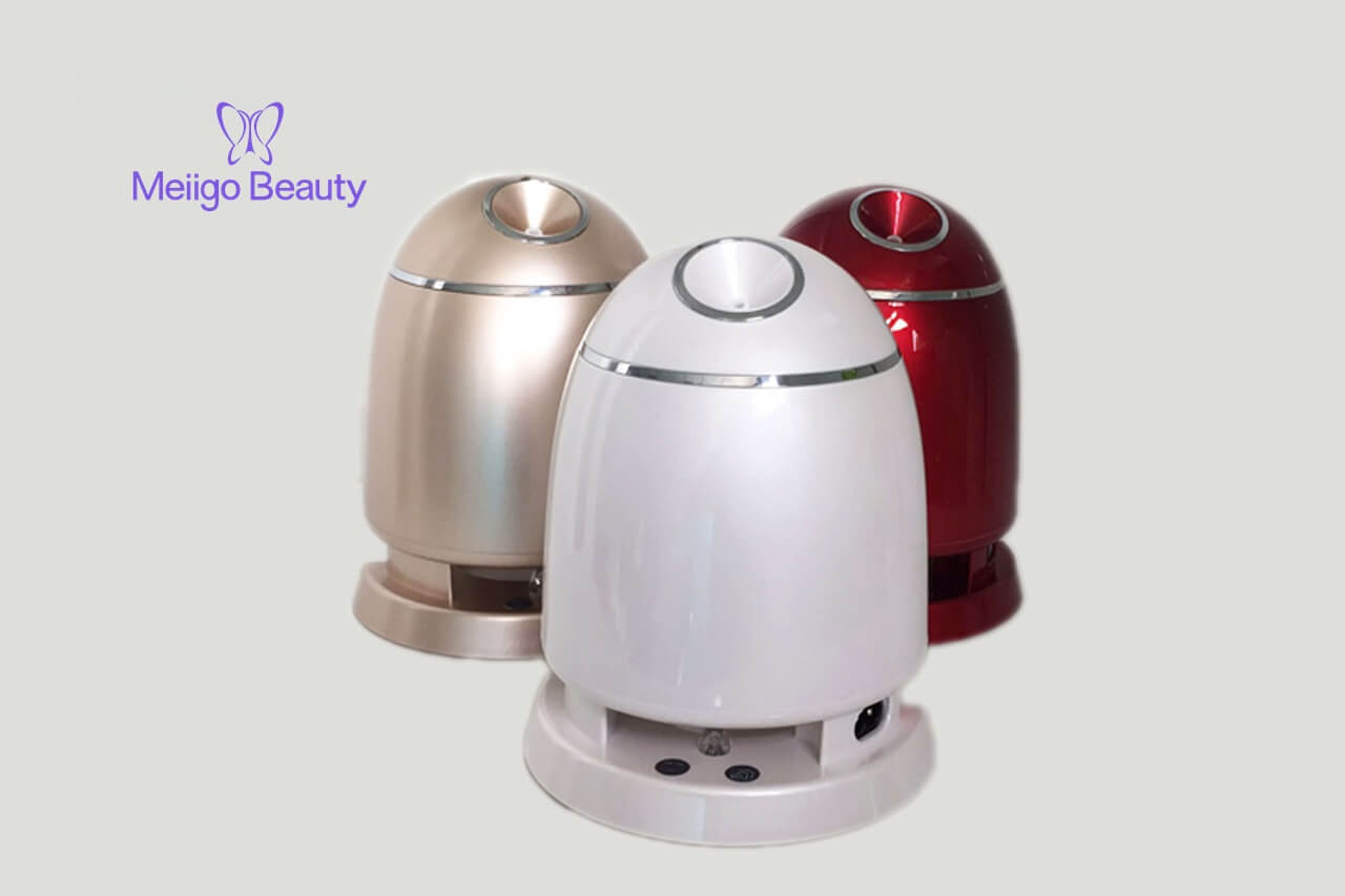 Meiigo beauty face mask machine in red FM002 3 - Face mask maker machine and facial steamer in red FM002