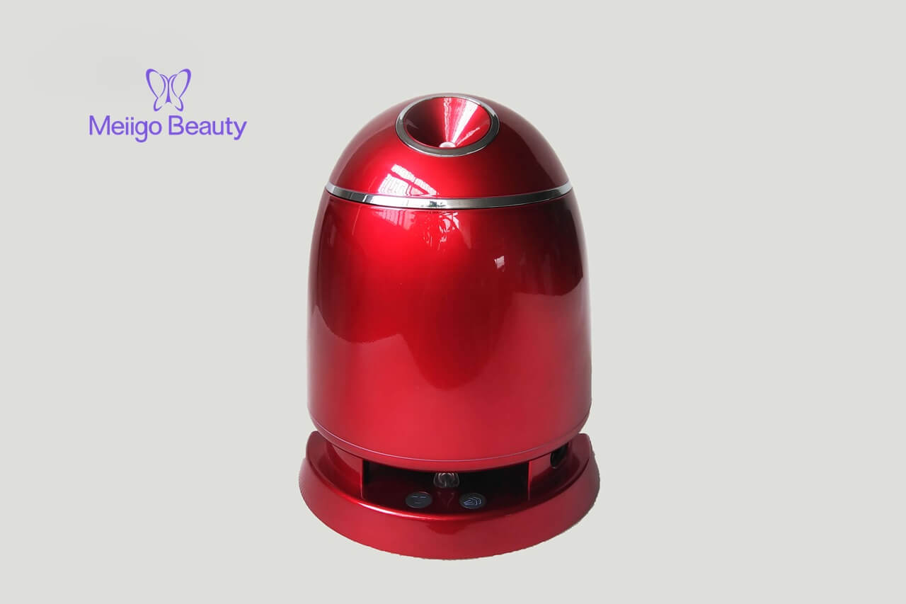Meiigo beauty face mask machine in red FM002 4 - Face mask maker machine and facial steamer in red FM002