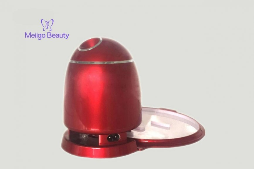 Meiigo beauty face mask machine in red FM002 5 866x577 - Face mask maker machine and facial steamer in red FM002