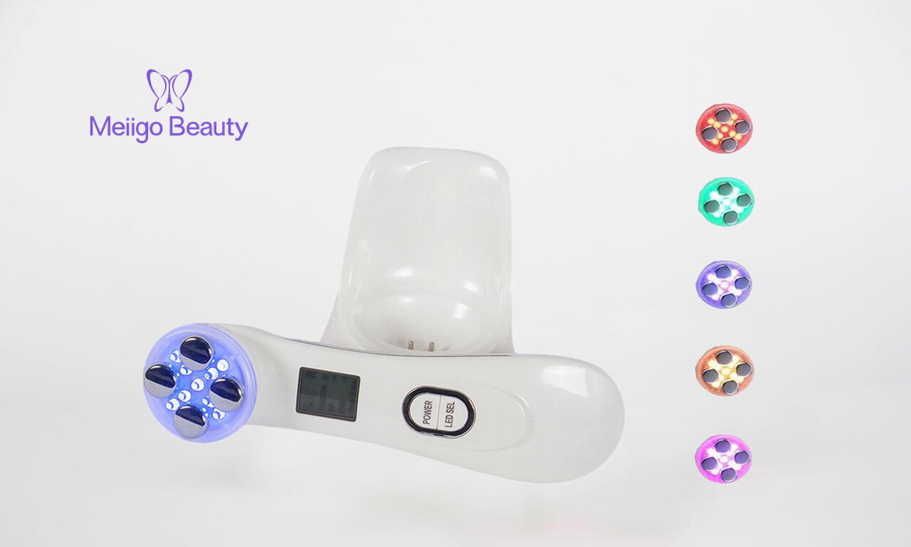 Meiigo beauty photon beauty device R701 feature picture - Mesotherapy electroporation RF facial LED photon skin care instrument R701