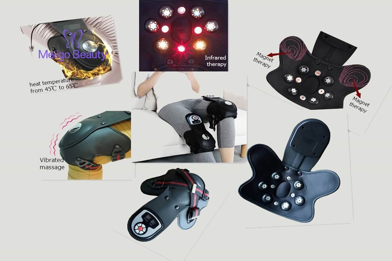 Meiigo beauty Knee massager G 839D 5 - Electric heat vibration knee and joint massager G-839D