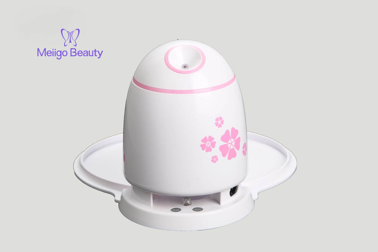 Meiigo beauty face mask machine pink FM002 1 - Fruit face mask maker with face steaming machine in white FM002