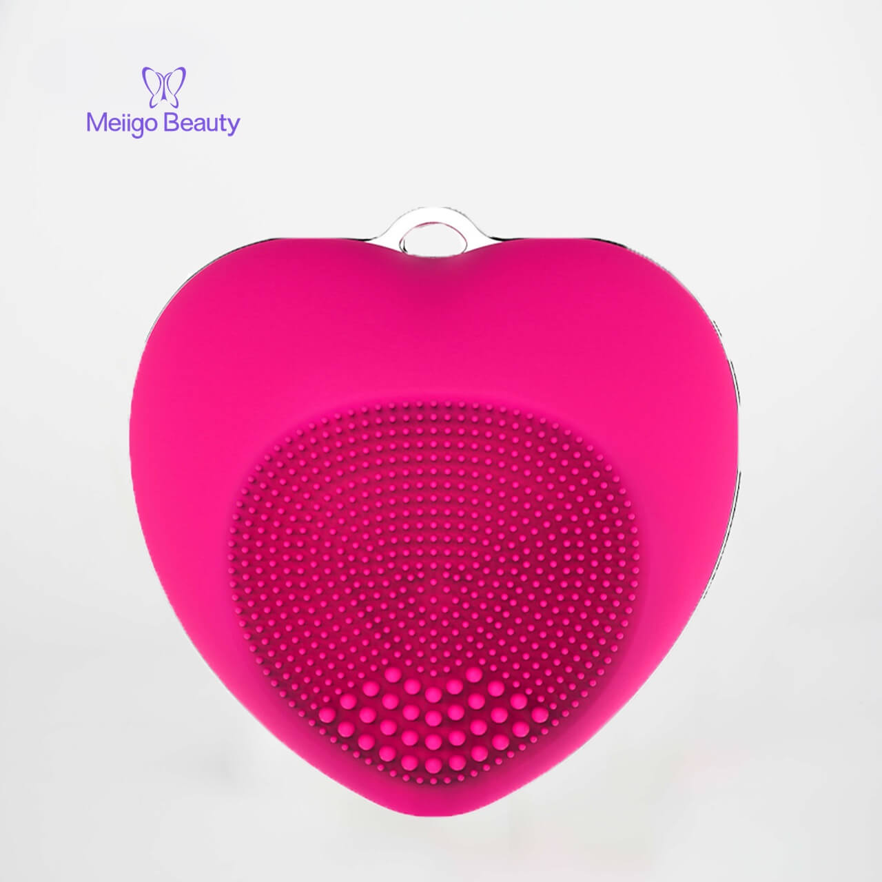 Meiigo beauty heart shape facial brush BR 002 2 - Facial cleansing brush mini silicone sonic face massager  BR-002