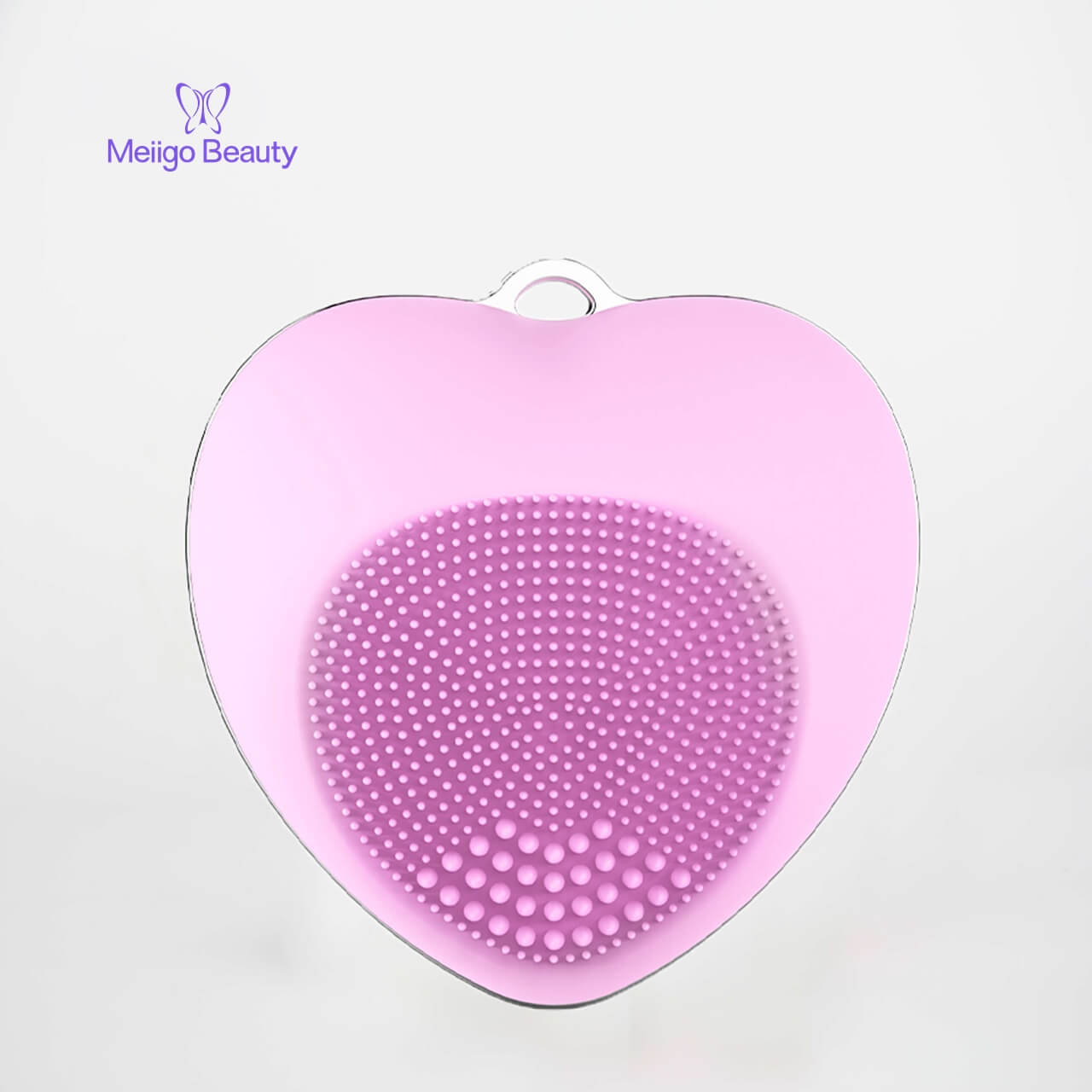Meiigo beauty heart shape facial brush BR 002 3 - Facial cleansing brush mini silicone sonic face massager  BR-002