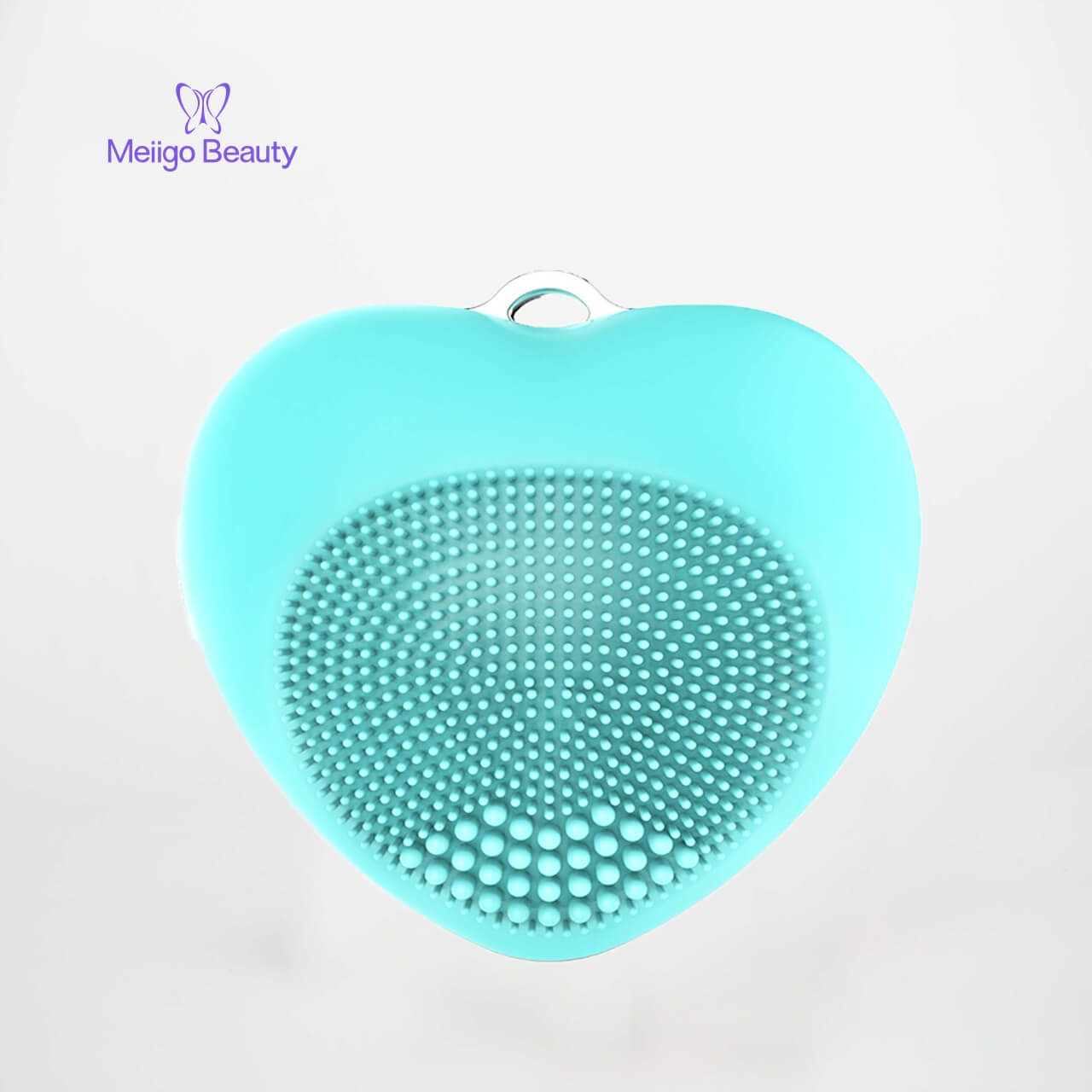 Meiigo beauty heart shape facial brush BR 002 4 - Facial cleansing brush mini silicone sonic face massager  BR-002