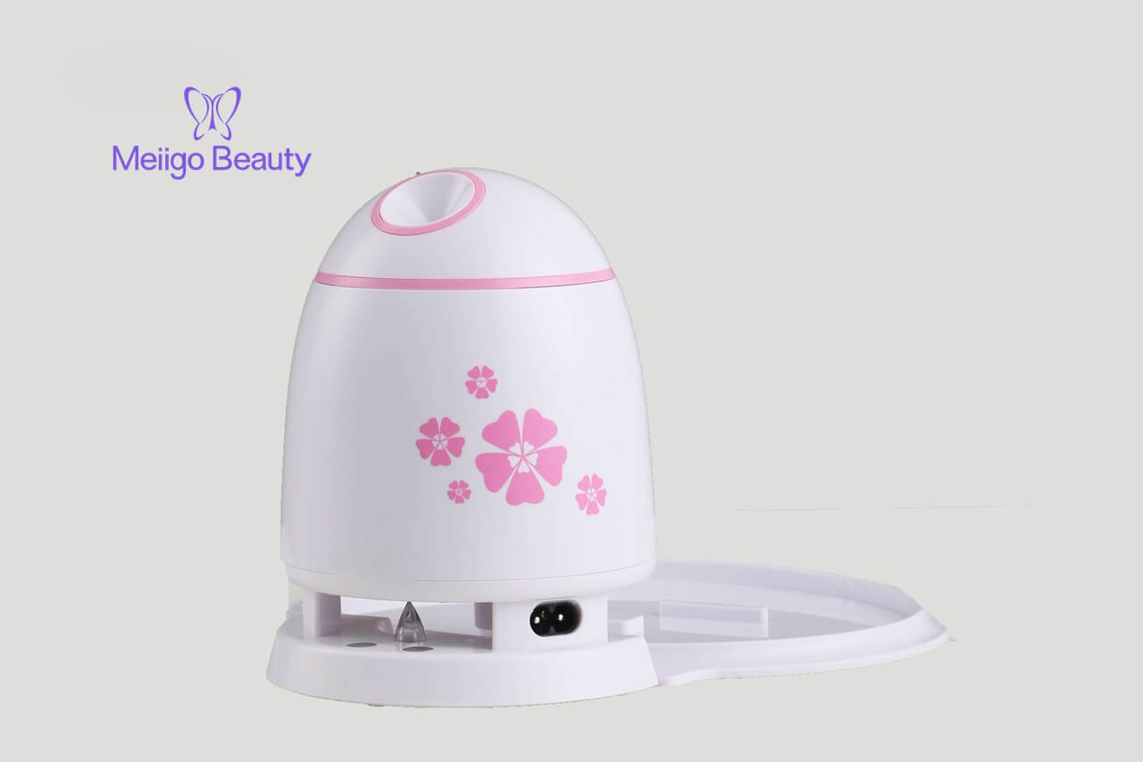 Meiigo beauty mask machine pink FM002 3 - Fruit face mask maker with face steaming machine in white FM002