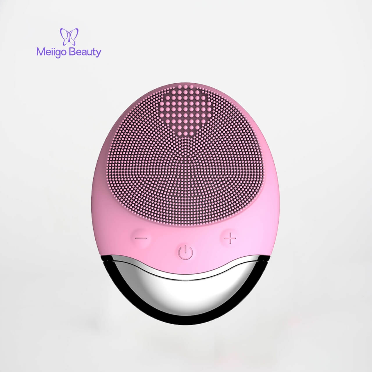 Meiigo beauty silicone face brush BR 003 2 - Sonic facial cleansing brush silicone vibrating cleanser & massager  BR-003