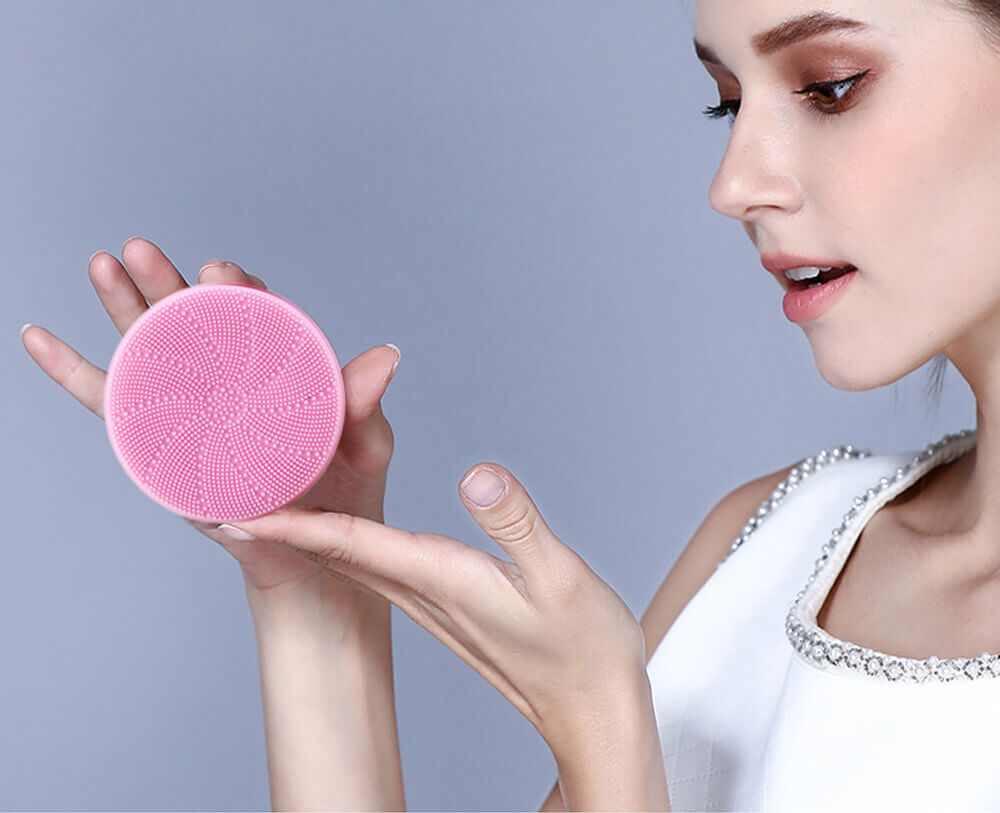 meiigo beauty BR006 silicone facial brush 4 - Electric silicone sonic facial cleansing brush for deep cleansing BR-006