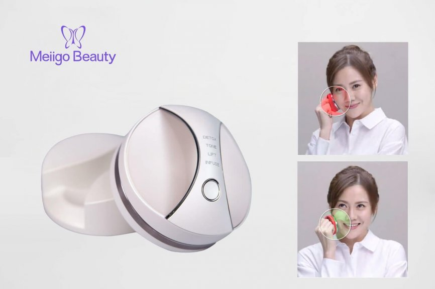 DR 008 Feature image small size 866x577 - RF anti aging beauty device with Photon skincare treatment and EMS massager DR-008